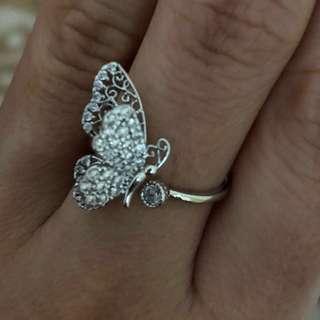 全新超靚💕立體蝴蝶🦋閃石戒指