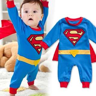 Superman Costume baby boy jumper jumpsuit