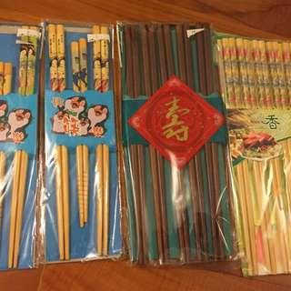 筷子竹制四套24對如圖全新找新用家