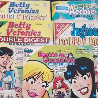 CALLING OUT ARCHIE FANS ~~VARIETY of Archie / Betty / Jughead Double Digest