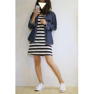 條紋背心裙