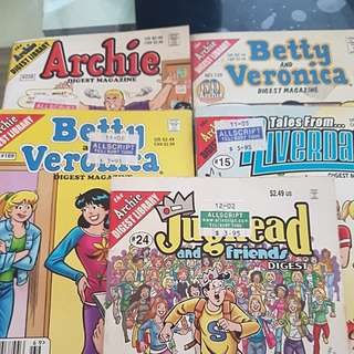 Calling for ARCHIE/ BETTY & VERONICA / JUGHEAD comic fans ~~ Variety of comic singles