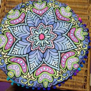 Mandala cushion cover with inner