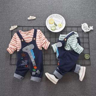 Baby boy clothes set overall Long pants