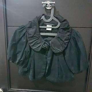 Jaket crop black