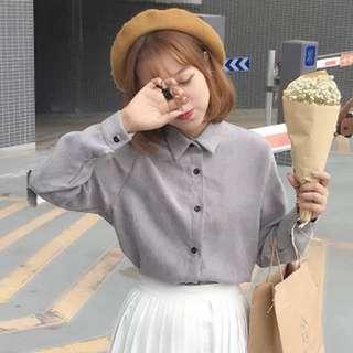 Long sleeve korean style shirt
