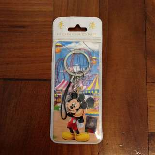 Authentic Hong Kong Disneyland Mickey Mouse Key Chain