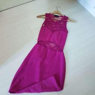 Club L Purple Lacy Dress from ASOS.COM