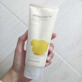 (reprice) Cleansing Foam - The Face Shop lemon