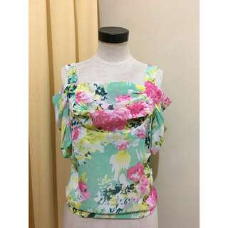 Sabrina Blouse Blue Flower