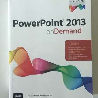 Microsoft PowerPoint 2013 on Demand (QUE)