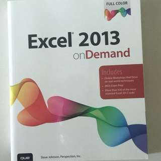 Microsoft Excel 2013 on Demand (QUE)