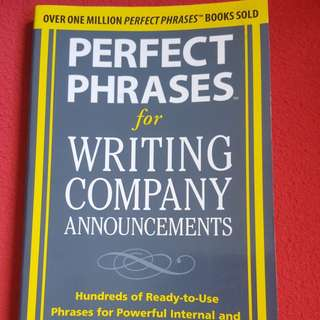 Perfect phrases for writing company announcement