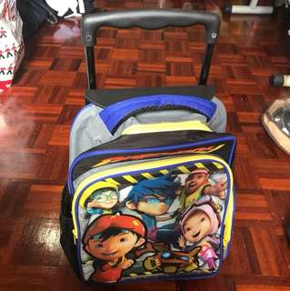 Boboiboy trolley bag