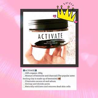Activate Face Mask (Betonite&Charcoal)