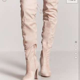 New pink over the knee boots with tag. Size 7