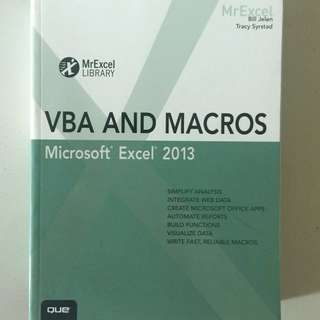 Microsoft Excel 2013 - VBA and Macros (QUE)