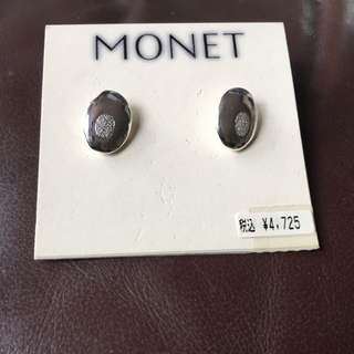 (MONET) SILVER VINTAGE EARRINGS