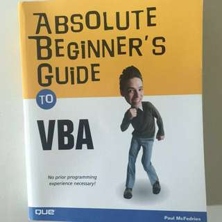 Absolute Beginner Guide to VBA (QUE)