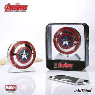 全新 MARVEL 美國隊長形象7800mAh 行動電源(有藍牙功能喇叭)Captain American Bluetooth Speaker Power Bank