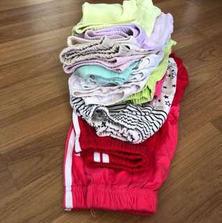 14pcs Assorted Girls Shorts (up to 7 years)
