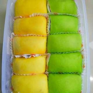 Pancake durian isi 10