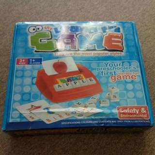 Literacy fun game for preschooler