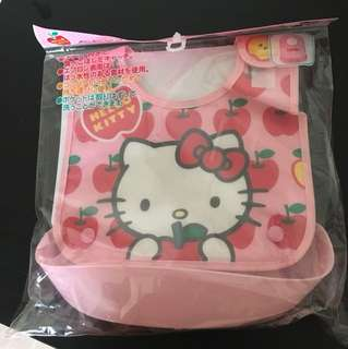 日本制Hello kitty 餵食兜