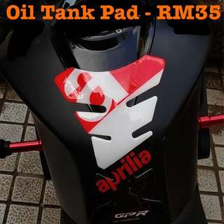 Aprilia Motor Oil Tank Pad Sticker