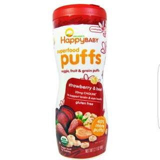 Happy Baby Superfood Organic Puffs
