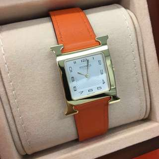 Hermes Heure H MM Watch 26mm in gold