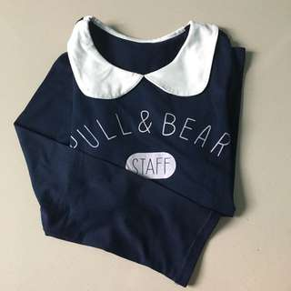 pull n bear tshirt long sleeves