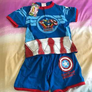 Captain America kids set cloths