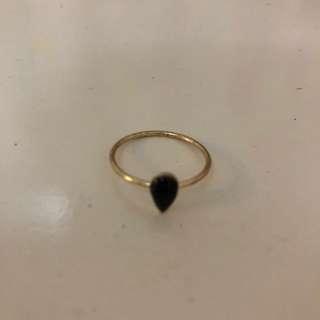Ring - cincin black/gold