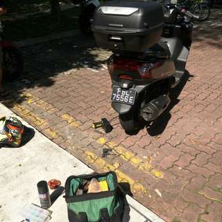 "Bike Been Rescue (Kymco Downtown 200)                Location: Marsiling Drive (Carpark)           Time: 11.08am (Morning)               Date: 31 Jan 18             Cause: Tyre Worming            ""Kureiji Response Team""      Emergency Service"