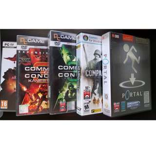 PC games (Command and conquer, Company of Heroes, Portal)