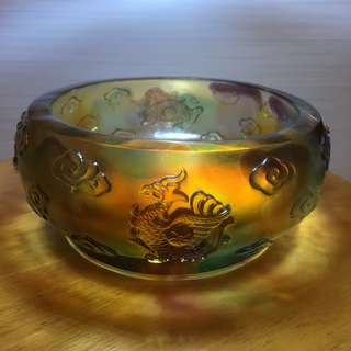 四神兽古法琉璃聚宝盆 - Liuli Treasure Bowl