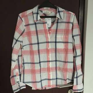 (repriced) checked fitted shirt h&m