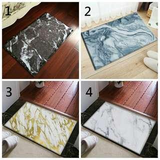 療癒 大理石紋 地毯 仿真 大理石 紋路 插畫 地毯 防滑地墊 造型地毯 浴室地毯 狗狗 毛小孩 大理石 地毯 禮物