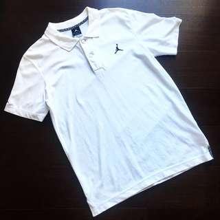 Nike Air Jordan Polo衫,4代 白 灰水泥 爆裂紋 M號 公司貨