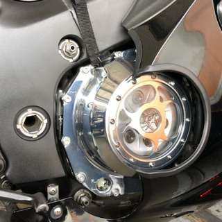 Hayabusa Gen 2 clutch and coil see through chrome cover