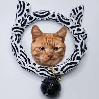 Oui.abi Japan Kimono Cat Dog Rabbit Pet Collar - Mono Light