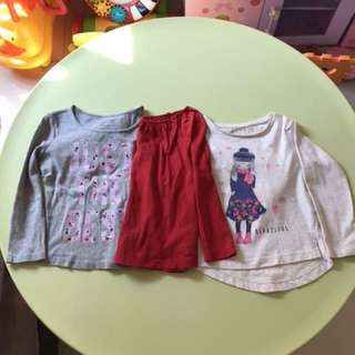 Long sleeve girl top (3pcs)