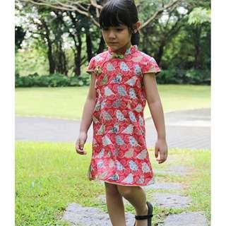 CS060 Girls Traditional Chinese Dress Cheongsam Qipao - Patchwork Birdie
