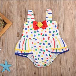 Colourful Polka dots Romper