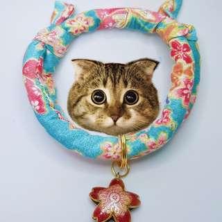 Oui.abi Japan Kimono Cat Dog Rabbit Pet Collar - Flower Garden