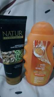 Take all (Natur conditioner + Makarizo conditioning shampoo)