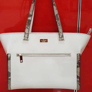New! Kate Spade White Bag
