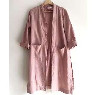 NEW yesstyle Women's dusty pink long outerwear, outerwear wanita, size M