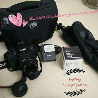 Canon EOS 700D (Set with Bag,TRIPOD,SD CARD,LENS)